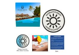 Single Sunburn Alert UV Color-Changing Sticker in Custom Pack