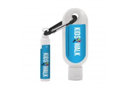 1.9 Oz. SPF 50 Sunscreen with Carabiner and SPF 15 Lip Balm in White Tube
